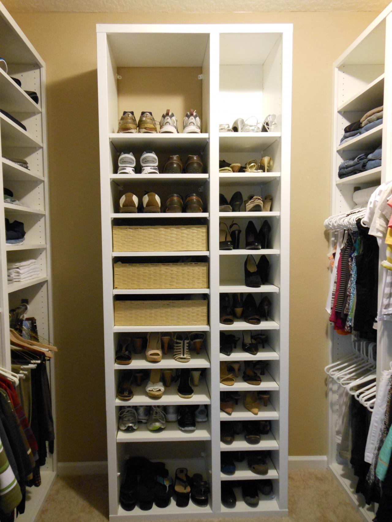 His u0026 Hers Walk in closet~Design/Build/ReSet (Shoes)